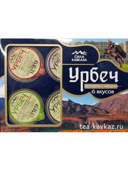 """Урбеч """"Ассорти с мёдом"""" 6 вкусов"""