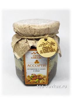 Аcсорти из орехов и семян в мёде (240 г)
