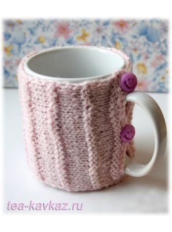 Свитер для чашки розовый